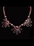 Wirework Jewelry - Copper Suns by Jan  Brieger-Scranton