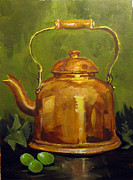 Teakettle Framed Prints - Copper Teakettle Framed Print by Carol Hart