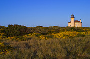 Lighthouse At Sunrise Prints - Coquille Lighthouse Print by Ken McDougal