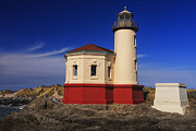 Mark Kiver Prints - Coquille River Lighthouse 2 Print by Mark Kiver