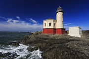 Mark Kiver Prints - Coquille River Lighthouse 3 Print by Mark Kiver