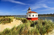 Joe Klune Posters - Coquille river lighthouse Poster by Joe Klune