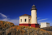 Mark Kiver Prints - Coquille River Lighthouse Print by Mark Kiver