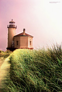 Manley Photo Prints - Coquille River Lighthouse Oregon Print by Rafael Escalios
