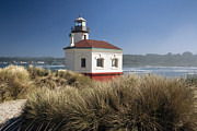 Peter French Framed Prints - Coquille River Lighthouse Framed Print by Peter French