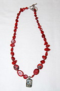 Healing Necklace Jewelry Originals - Coral Beauty by Barbara Anna Knauf
