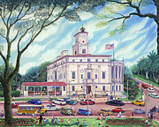Park Scene Paintings - Coral Gables City Hall by Colette Raker