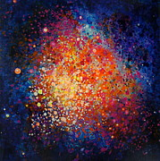 Outer Space Painting Framed Prints - Coral Nebula #2 Framed Print by Freddie Lieberman