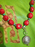 Hand Crafted Art - Coral Necklace by Beth Sebring