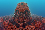 Drown Digital Art - Coral Temple by Bernard MICHEL