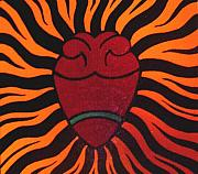 Chicano Painting Prints - Corazon Print by Jane Madrigal
