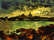 Corbiere Lighthouse Print by Unknown