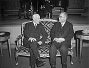 World Peace Art - Cordell Hull With Adm. Nomura by Underwood Archives