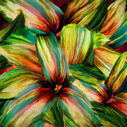 Lush Colors Digital Art Posters - Cordyline Poster by Lourry Legarde
