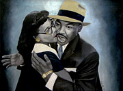 Civil Rights Paintings - Coretta and Martin by Chelle Brantley