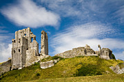 Architecture Digital Art - Corfe Castle - Dorset - England by Natalie Kinnear