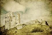 Corfe Castle - Dorset - England - Vintage Effect Print by Natalie Kinnear