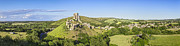 Dorset Prints - Corfe Castle Panorama Dorset England Print by Colin and Linda McKie