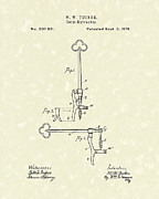 Wine Cork Drawings - Cork Extractor 1878 Patent Art by Prior Art Design