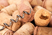 Stoppers Prints - Corks and corkscrew Print by Joe Belanger