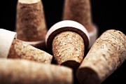 Wine Bottle Images Posters - Corks Poster by John Rizzuto