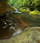 Beautiful Creek Prints - Corkscrew Falls on Chattooga River Print by Matt Tilghman