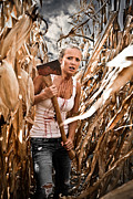 Hiding Metal Prints - Corn Field Metal Print by Jt PhotoDesign