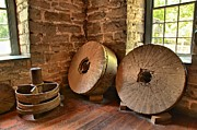 Grist Mill Prints - Corn Wheels Print by Adam Jewell
