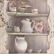Vintage Teacup Prints - Corner Cupboard Print by Art Block Collections