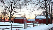 Red Barn. New England Prints - Corner farm Print by Andrea Galiffi