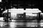 Grocery Store Prints - corner grocery store open 24hrs in Vancouver BC Canada Print by Joe Fox