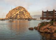 Morro Bay Prints - Corner Harbor Print by Sharon Foster