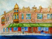 Wisconsin Landscape  Painting Originals - Corner in Stevens Point Wisconsin  by Kenneth Michur
