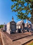 Metairie Cemetery Prints - Corner Lot Print by Steve Harrington