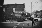 Dog Walking Prints - Corner Market in Roncy Print by Tanya Harrison