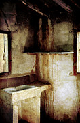 Abandoned Buildings Photo Prints - Corner of kitchen Print by RicardMN Photography