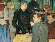 Visiting Framed Prints - Corner of Moulin de la Galette Framed Print by Henri de Toulouse Lautrec