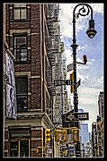 Traffic Light Prints - Corner of Spring and Greene - Soho - NYC Print by Madeline Ellis