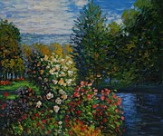 Jardins Painting Metal Prints - Corner Of The Garden At Montgeron Metal Print by Claude Monet