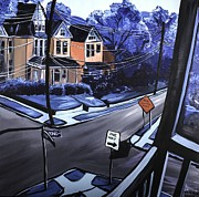 Self View Paintings - Corner View by Jennifer Noren