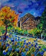 Pol Ledent - Cornflowers and old...
