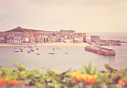 Cornwall Digital Art Prints - Cornish Harbour Print by Lyn Randle