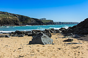 Cornwall Prints - Cornish Seascape Gunwalloe Print by Brian Roscorla