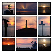 Cape Cornwall Framed Prints - Cornish Sunsets Framed Print by Terri  Waters