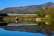 Mountain Valley Photos - Cornish Windsor Covered Bridge by Edward Fielding