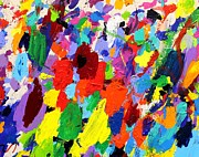 Abstract Expressionistic Painting Framed Prints - Cornucopia Of Colour I Framed Print by John  Nolan