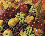 Fine  Art Framed Prints - Cornucopia Framed Print by Fine  Art