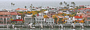 Roofs - Corona Del Mar Panorama  by Ben and Raisa Gertsberg