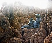 Corona Del Mar Seals Statue Print by Gregory Dyer