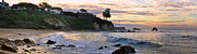 Corona Posters - Corona Del Mar Sunrise Panorama Poster by Eddie Yerkish